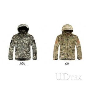 Outdoor warm shark skin waterproof windproof jacket UD60001